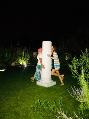 Michele Chiossi Bubble Architour, 2009  marmo bianco statuario colonna pluriball bubble wrap statuaria classico classicità scultura giardino