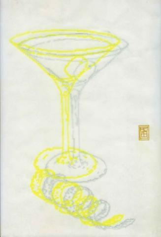 Michele Chiossi Martini, 2000 evidenziatore, pigmenti d'argento, carta da lucido disegno zigzag pixel videogame cocktail ebrezza sfuocato fuzzy