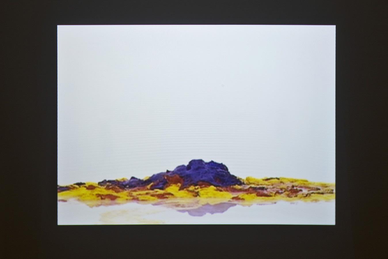 Michele Chiossi THEORY OF COLORS,  New York 1996-Milan 2009 Format DVD video Pietà di Michelangelo gelato Teoria del colore Goethe dissolvenza forma astrazione discioglimento