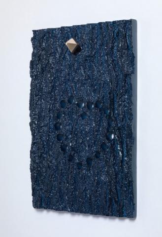 Michele Chiossi LOVE ME TENDER, 2010  resine polimeriche, Jaguar car paint, ottone amore cuore dot corteccia eternità punto scultura