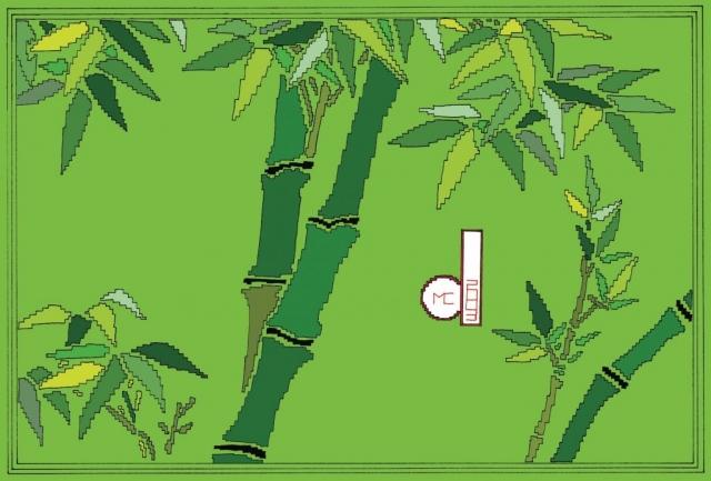 Michele Chiossi Time Sake, 2003  smalti, poliestere  zigzag bamboo Giappone ideogramma