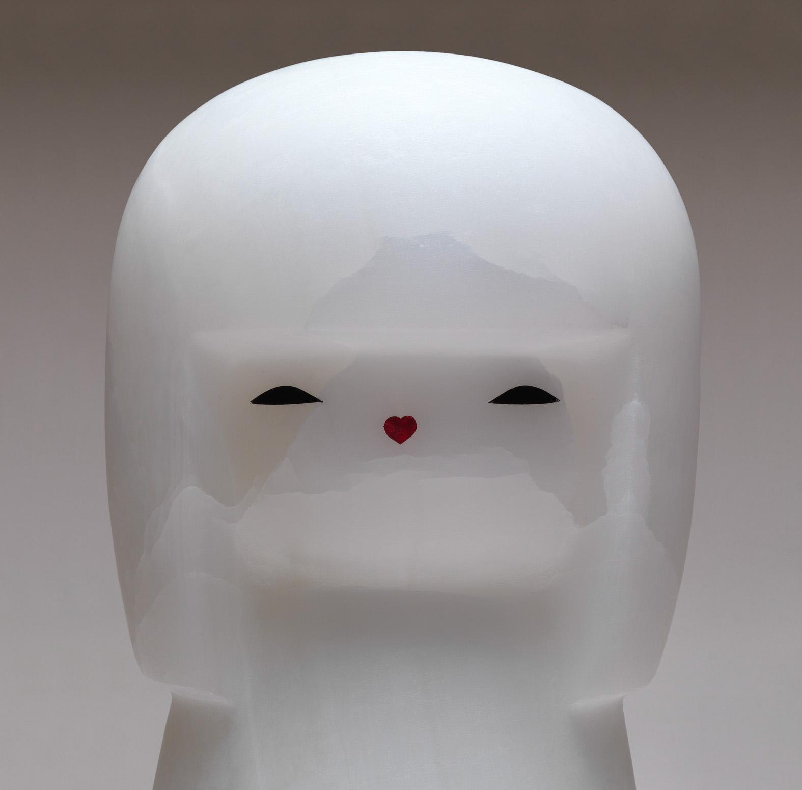 Michele Chiossi Baby LOL Doll, 2011 onice, smalti CHANEL la grande onda kokeshi love Giappone Hokusai scultura