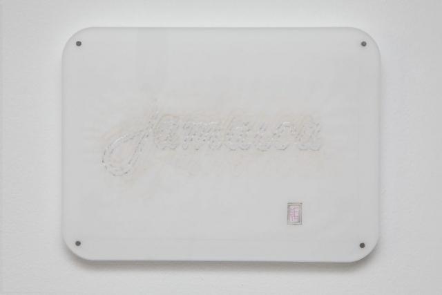 Michele Chiossi Jamaica Like, 2014   pennarelli e pigmento d'argento su carta da lucido plexiglas, magneti  bar Jamaica Piero Manzoni Milano tributo zigzag disegno achrome