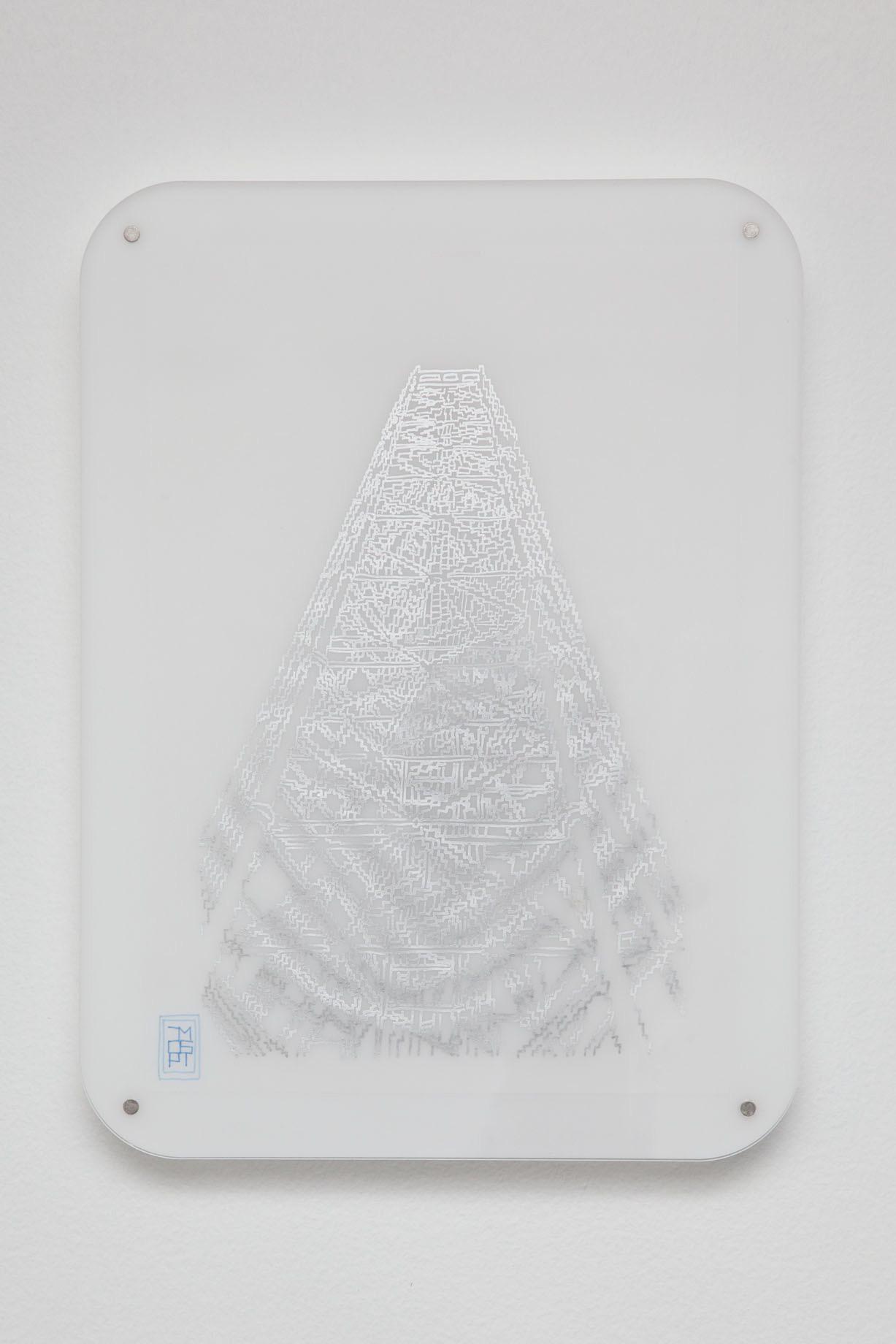 Michele Chiossi Torre Branca, 2014   pigmento d'argento su carta da lucido plexiglas, magneti  disegno zigzag Milano Giò Ponti