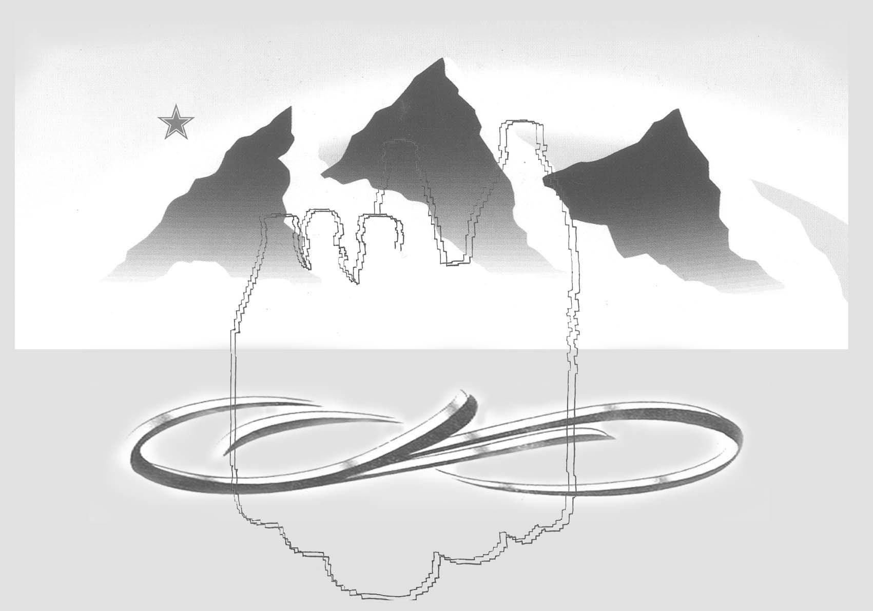 Michele Chiossi THIRSTY LANDSCAPE, 2004  smalti, pigmento d'argento, poliestere disegno dipinto zigzag pixel acqua bottiglie postcard cartolina paesaggio Evian San Pellegrino Ferrarelle arte contemporanea