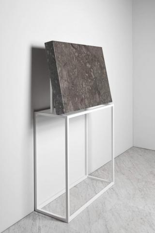 Michele Chiossi SUBABSTRACTION (green), 2017 marmo Verde Guatemala, pizzo, resina 100x70x10 cm quadro astrazione zigzag