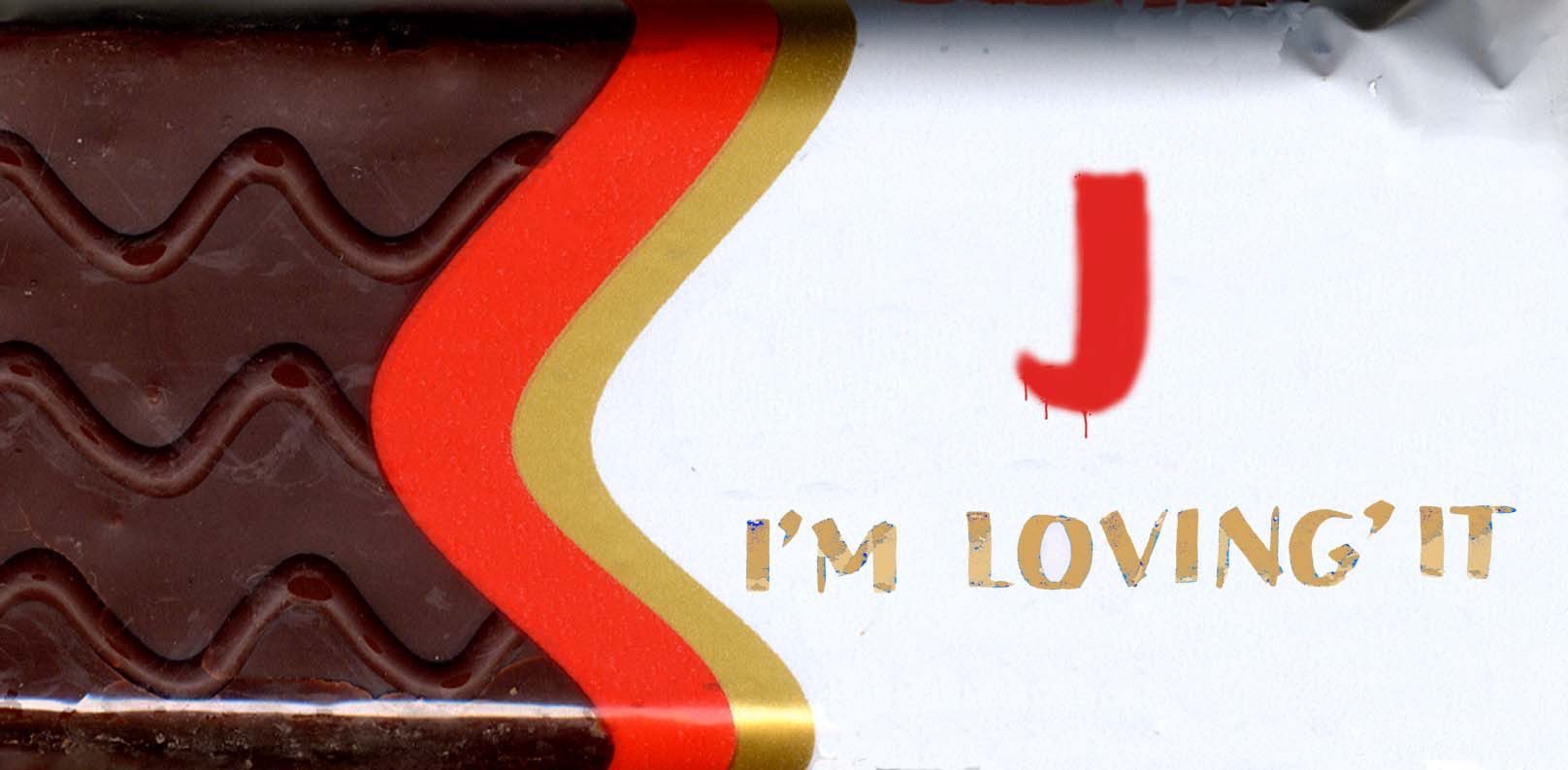 Michele Chiossi J, I'M LOVING IT, 2004 smalti, poliestere junk food dipinto Fiesta