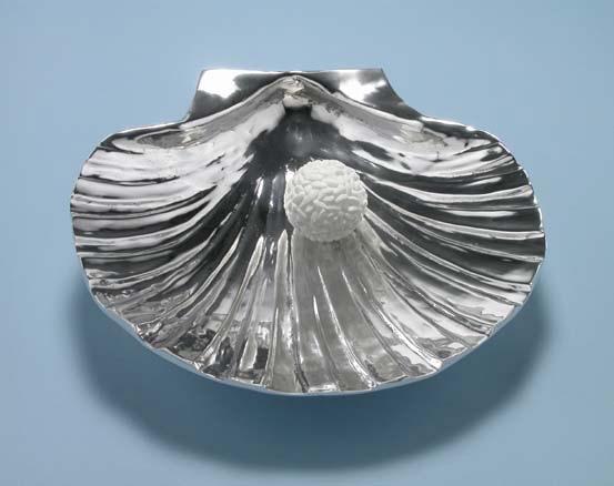 Michele Chiossi La Nascita di Venere, 2000/2002 marmo bianco statuario, alluminio scultura Botticelli riso perla Santiago di Compostela food cibo