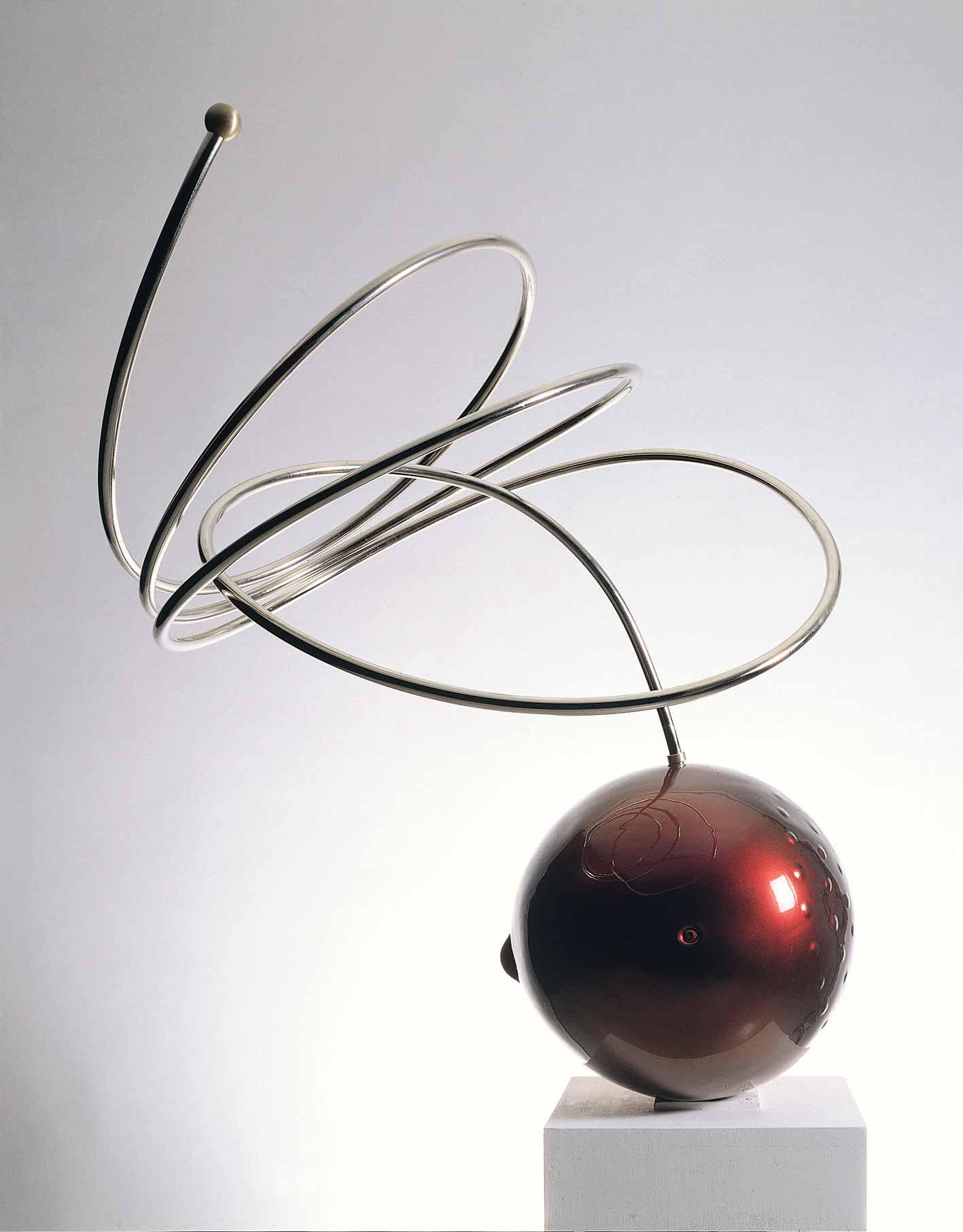 Michele Chiossi Lounge, 2001 vetroresina, Chromalusion, ottone cromato scultura ciliegia transgenica Natura Morta satellitare cangiante mutevole