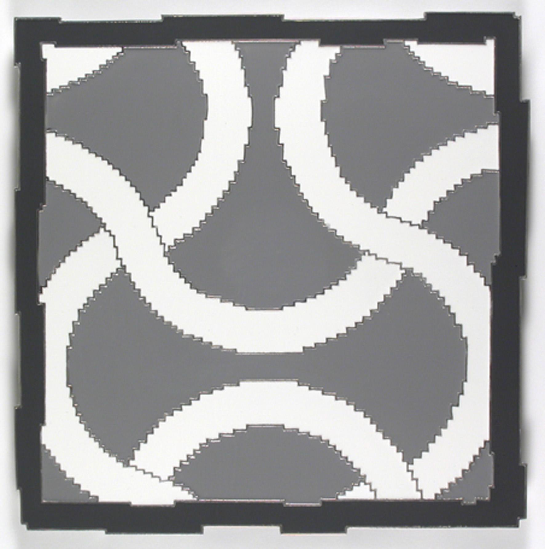fotoincisione su alluminio, smalti 50x50cm maze